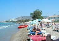 Пляж на курорте Кушадасы