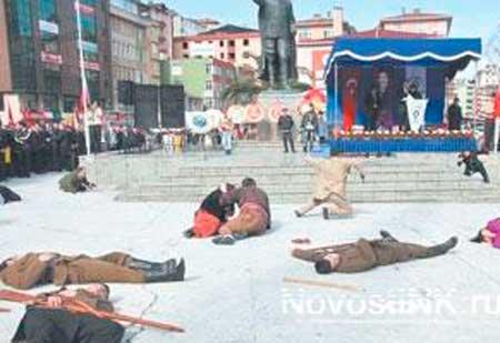 Снова в  Турции  инсценировали убийство армян.