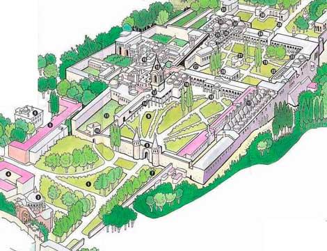 Карта дворцов Топкапы