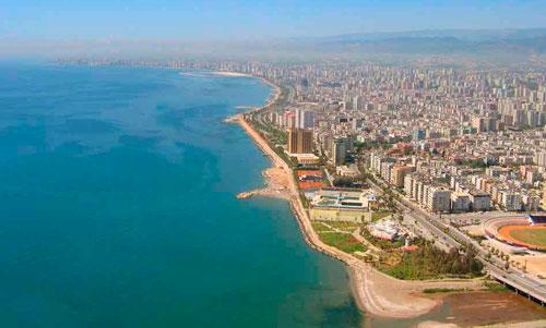 Турецкий мегаполис Мерсин.