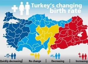 Рождаемость выше в бедных провинциях Турции